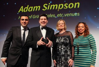 Adam Simpson, Head of Group Sales at etc.venues has won The Chairman's Award at this year's ITM Buyer Acheivement Awards